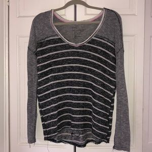 Free People Knit Long Sleeve Striped Shirt Size S